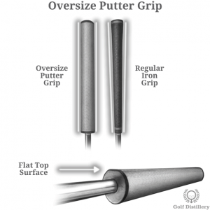 Putter oversize grip features