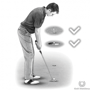 Precise targeting putting drill
