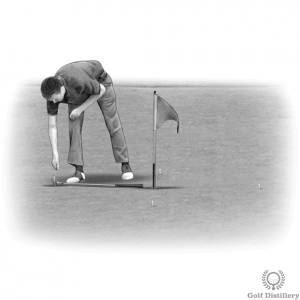 One-putter length putting drill