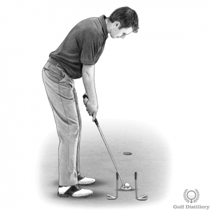Straight back and through putting drill