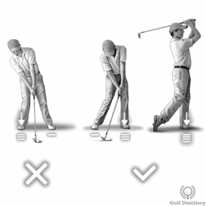 Move your weight towards the front foot at impact and follow through