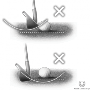 Scooping the ball can lead to thin (topped) shots and fat shots