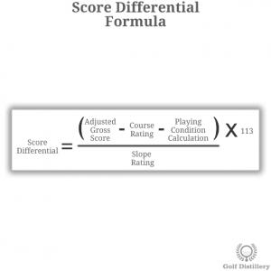 Score Differential Formula in golf