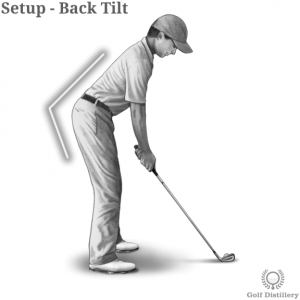 Back position in a golf setup