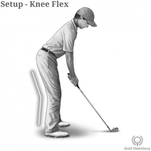 Knee flex position in a golf setup