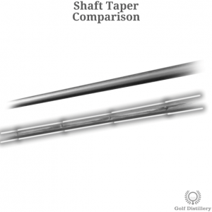 Comparison between a steel and a graphite golf club shaft