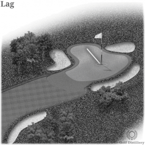 Lag Putt in Golf