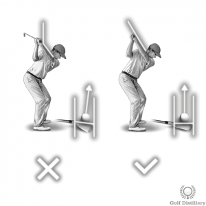 A cupped left wrist at the top of the swing can lead to a slice
