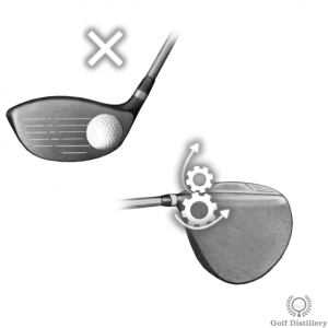 A ball hit on the heel of the clubface can lead to a slice
