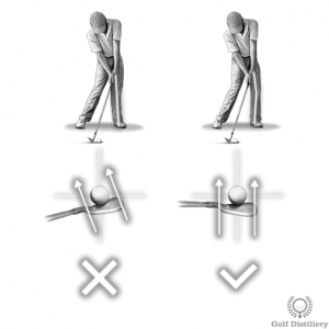 Locking your left knee at impact can lead to a slice