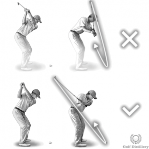 An over the top swing can lead to a slice