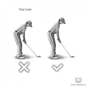 Spine angle should not be set in a too low position at address