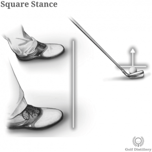 Square stance in golf