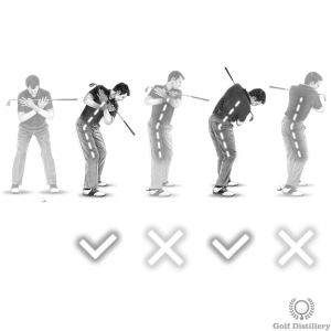 Keep the spine angle you set at address the same during the backswing and the downswing