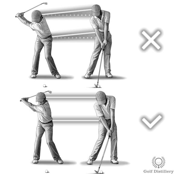 Standing up at impact swing error