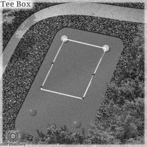 VIsual representation of the Tee Box dimensions