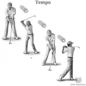 Tempo in a golf swing