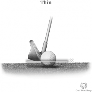 Thin golf shot error