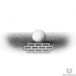 Tight (bare) lie in golf