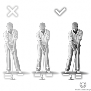 Move your weight forward when hitting from a tight lie
