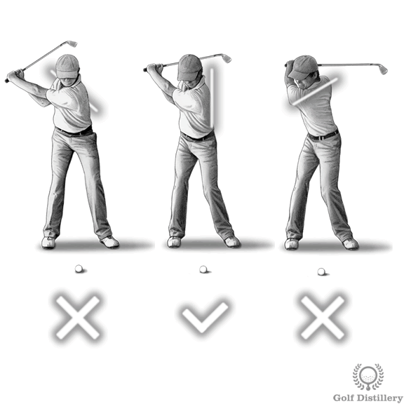 Your back should be facing the target at the top of the swing