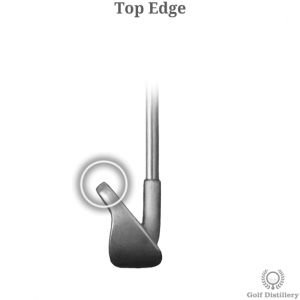 Top Edge of a golf club