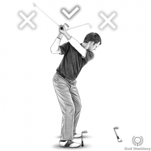 Proper club direction at the top of the swing drill