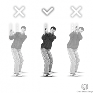 Correct club position at the top of the swing drill