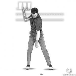 Position of the right hand at the top of the swing drill