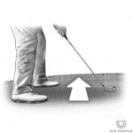 Uphill (Upslope) lie in golf