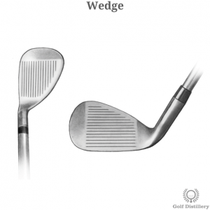 Technical drawing of a wedge golf club
