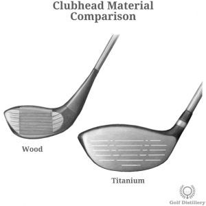 Comparison between drivers featuring metal and wood